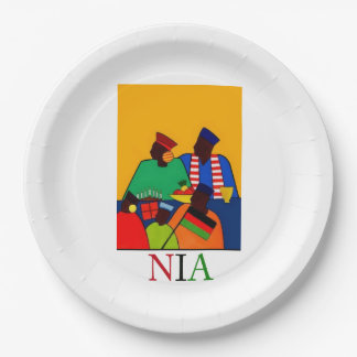 NIA Kwanzaa Party Paper Plates