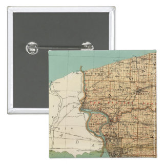 Niagara and Erie counties 2 Inch Square Button