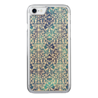Niagara and Lapis Blue Batik Shibori Damask Carved iPhone 8/7 Case