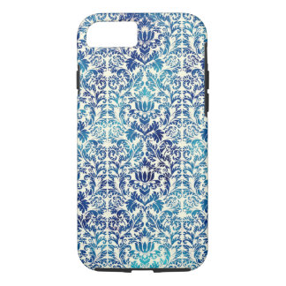 Niagara and Lapis Blue Batik Shibori Damask Case-Mate iPhone Case