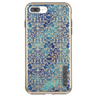 Niagara and Lapis Blue Batik Shibori Damask Incipio DualPro Shine iPhone 8 Plus/7 Plus Case