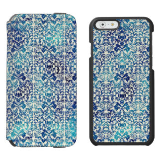 Niagara and Lapis Blue Batik Shibori Damask Incipio Watson™ iPhone 6 Wallet Case