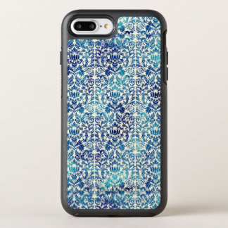 Niagara and Lapis Blue Batik Shibori Damask OtterBox Symmetry iPhone 8 Plus/7 Plus Case