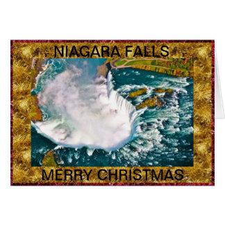Niagara Falls air shot Christmas Card