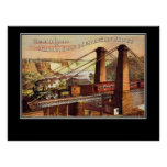 Niagara Falls and Suspension Bridge Poster