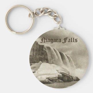 Niagara Falls Antique Sepia Keychain