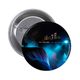 Niagara Falls at night 2 Inch Round Button