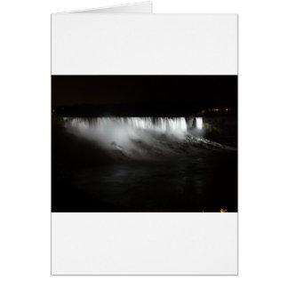 Niagara Falls At Night Card