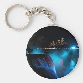 Niagara Falls at night Keychain
