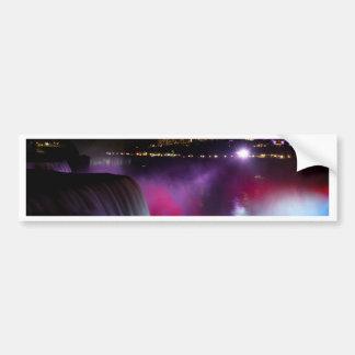 Niagara Falls at night Pink and Purple Bumper Sticker