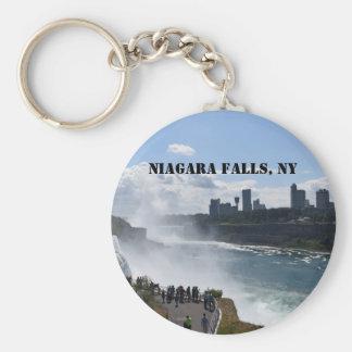 Niagara Falls Button Keychain