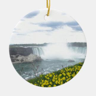 Niagara Falls Canadian Side Round Ceramic Ornament