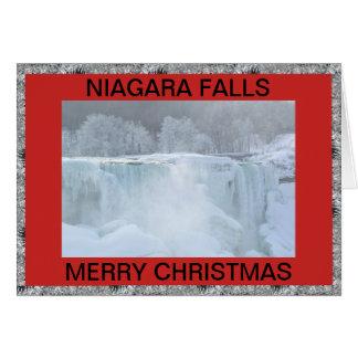 NIAGARA FALLS CHRISTMAS CARD