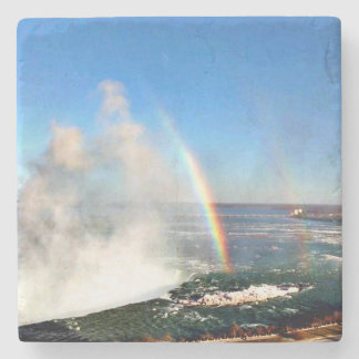 Niagara Falls, Double Rainbow, From Original Photo Stone Coaster