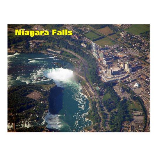 Niagara Falls From Above Postcard