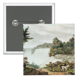 Niagara Falls, from Goat Island 2 Inch Square Button
