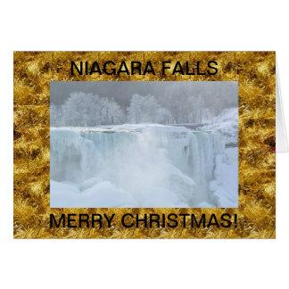 Niagara Falls Frozen Christmas Card