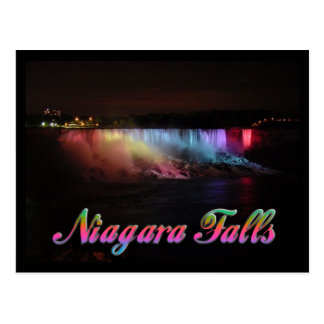 Niagara Falls Lights at Night Postcard