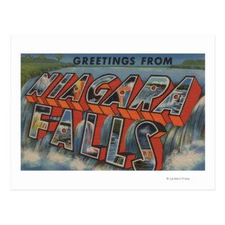 Niagara Falls, New York - Large Letter Scenes 3 Postcard