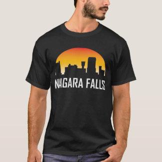 Niagara Falls New York Sunset Skyline T-Shirt