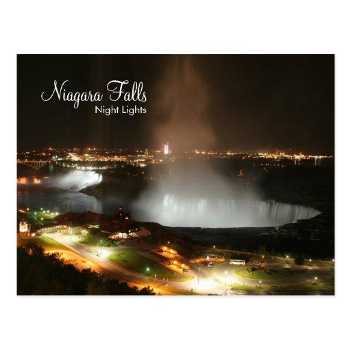 Niagara Falls, Night Lights - Post Cards