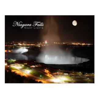 Niagara Falls Night Lights Postcard