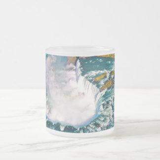 Niagara Falls on a 10 oz frosted glass mug