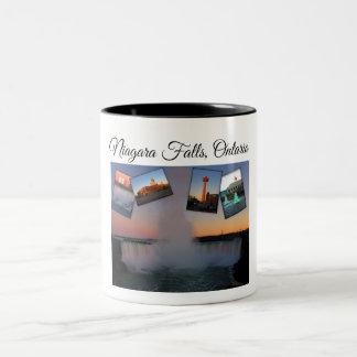 Niagara Falls Photo Collage Two-Tone Coffee Mug