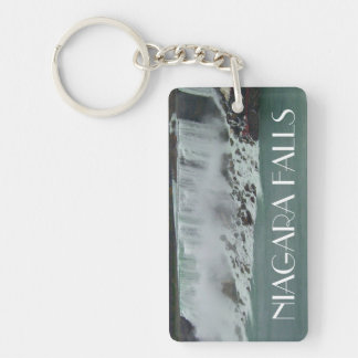 Niagara Falls Photo Double-Sided Rectangular Acrylic Keychain
