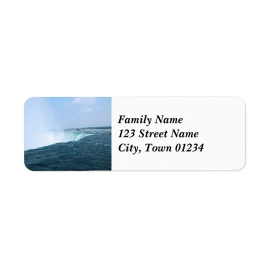 Niagara Falls Return Address Label