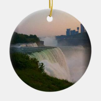 Niagara Falls Round Ceramic Ornament
