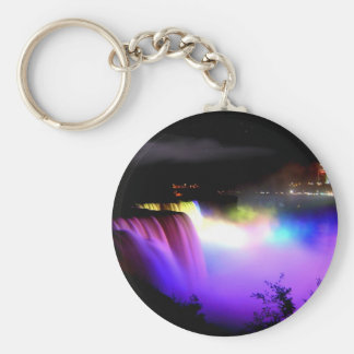 Niagara-Falls-under-floodlights-at-night Keychain