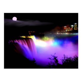 Niagara-Falls-under-floodlights-at-night Postcard