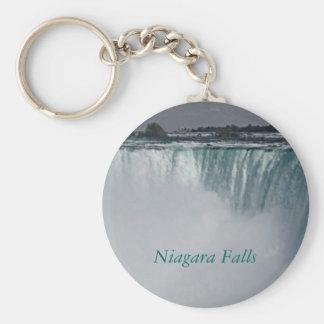 Niagara Falls Waterfall Basic Round Button Keychain