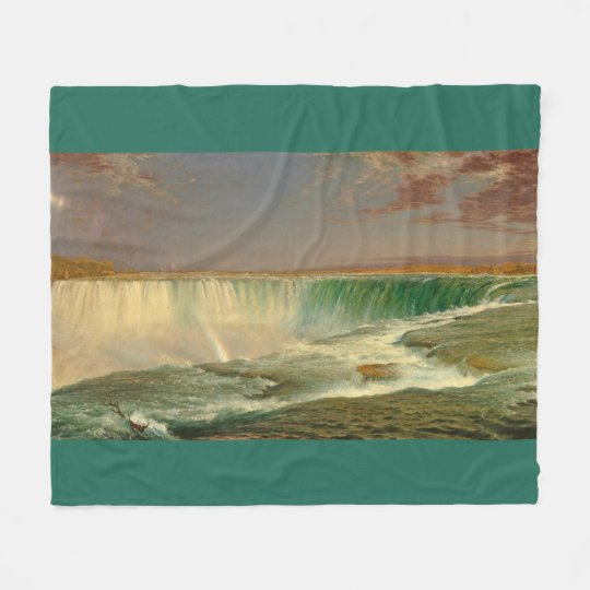 Niagara Falls Waterfall Canada Fleece Blanket