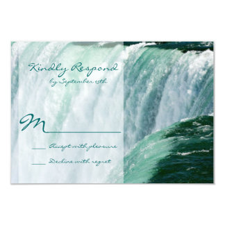 Niagara Falls Waterfall Outdoor Wedding RSVP Cards