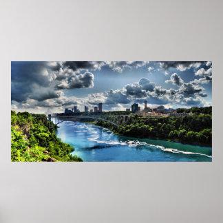 Niagara River Rainbow Bridge Print