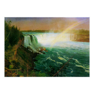 Niagra Falls by Bierstadt Poster