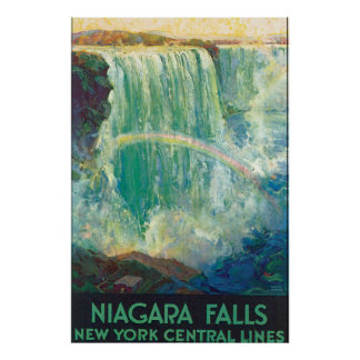 Niagra Falls Vintage Travel Poster Artwork
