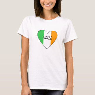 Niall irish flag heart t-shirt