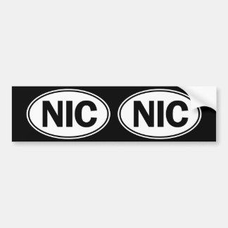 NIC Oval Identity Sign Bumper Sticker