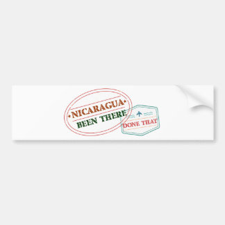 Nicaragua Been There Done That Bumper Sticker