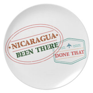 Nicaragua Been There Done That Party Plate