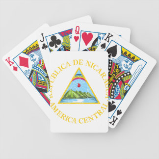 Nicaragua Coat Of Arms Bicycle Playing Cards