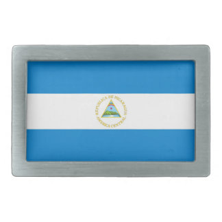 nicaragua country flag belt buckle