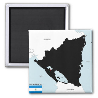 nicaragua country political map flag magnet