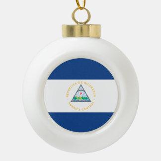 Nicaragua Flag Ceramic Ball Ornament