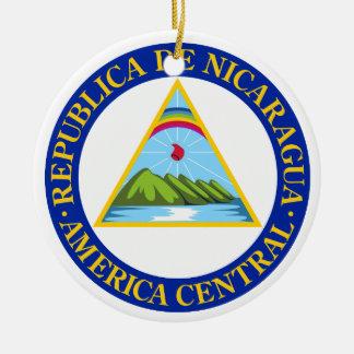 NICARAGUA -  flag/emblem/coat of arms/symbol Ceramic Ornament