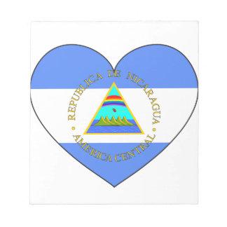 Nicaragua Flag Heart Notepad