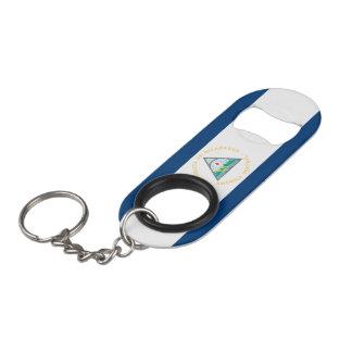 Nicaragua Flag Keychain Bottle Opener